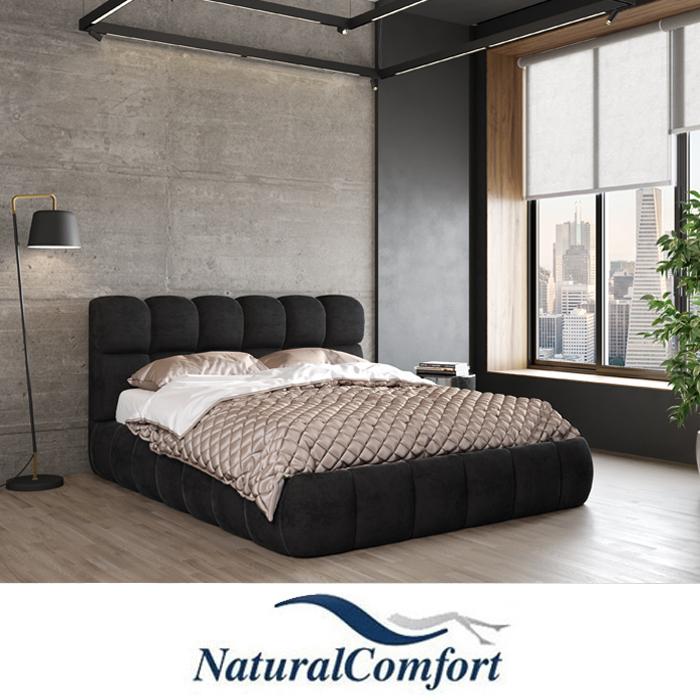 מיטה זוגית מרופדת בריפוד בד קטיפה דגםענן
