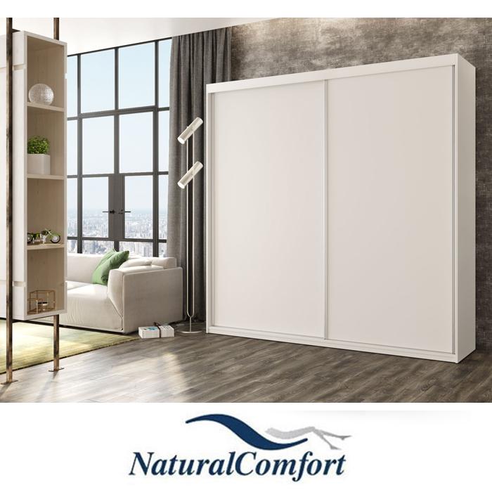 ארון הזזה 2 דלתותעם דלת מראה מתנהברוחב 2 מטר מחולק ל 4 תאים